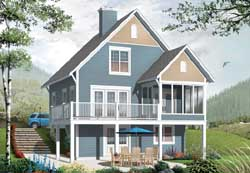 Cottage Style Home Design Plan: 5-1101