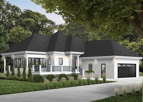 Traditional Style Home Design Plan: 5-1105