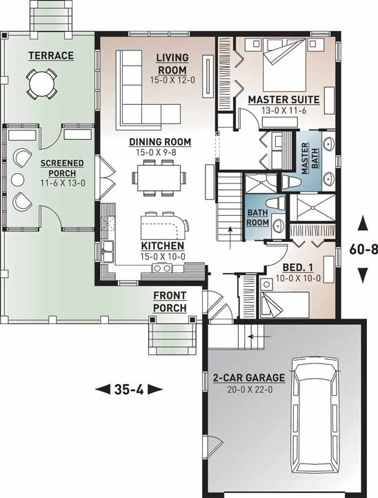 Main Floor Plan: 5-1105