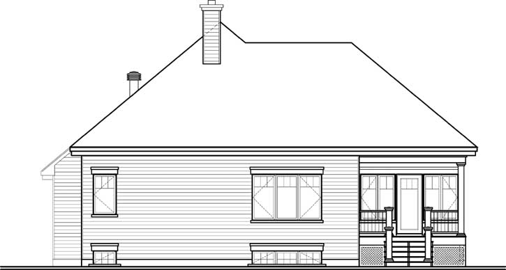 Rear Elevation Plan: 5-1105