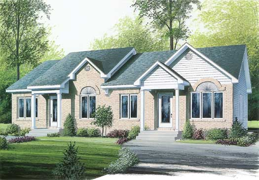 Traditional Style Home Design Plan: 5-111