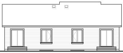 Rear Elevation Plan: 5-111