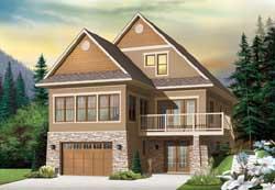 Craftsman Style Home Design Plan: 5-1111