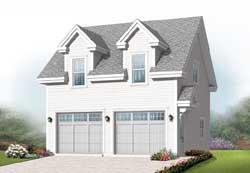 Cape-Cod Style Home Design Plan: 5-1112