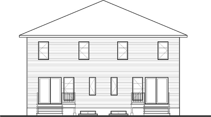 Rear Elevations Plan:5-1118