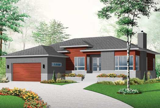Modern Style House Plans Plan: 5-1126