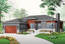 Modern Style House Plans Plan: 5-1126