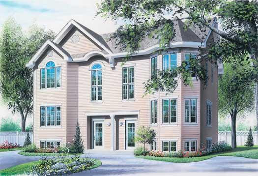 European Style Home Design Plan: 5-113