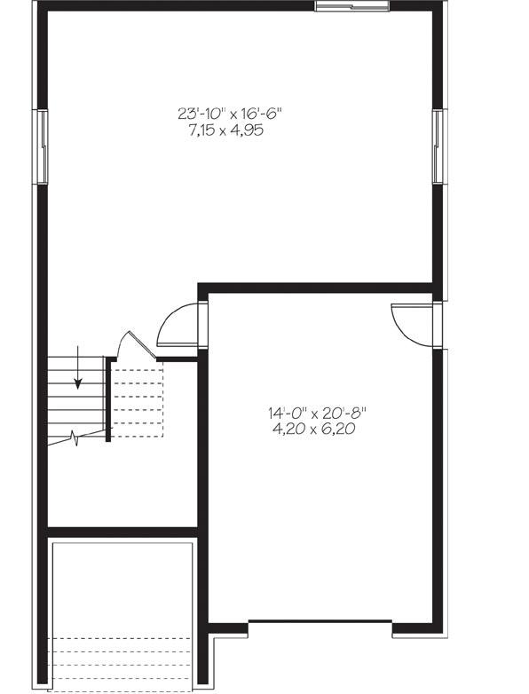 Lower Floor Plan: 5-1130