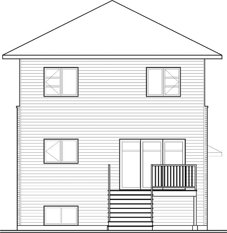 Rear Elevation Plan: 5-1130