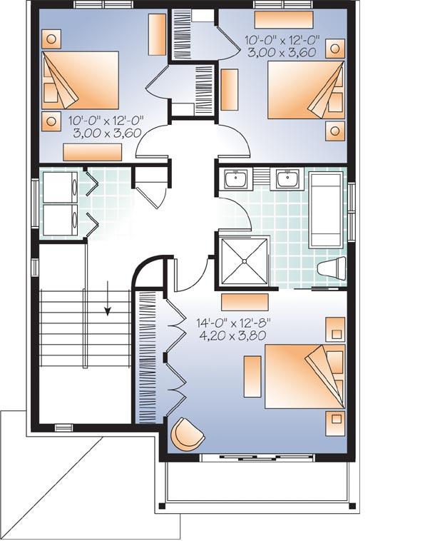 Upper/Second Floor Plan: 5-1130