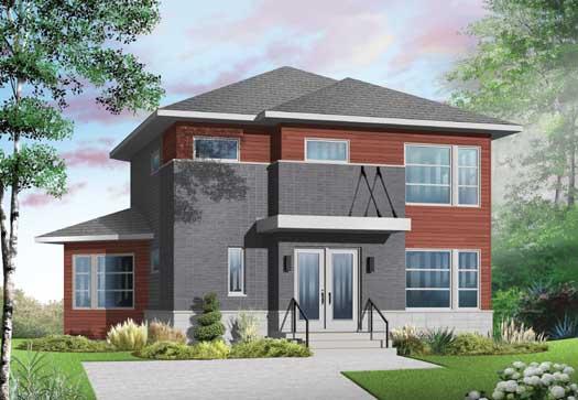 Modern Style Home Design Plan: 5-1134