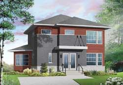 Modern Style House Plans Plan: 5-1134
