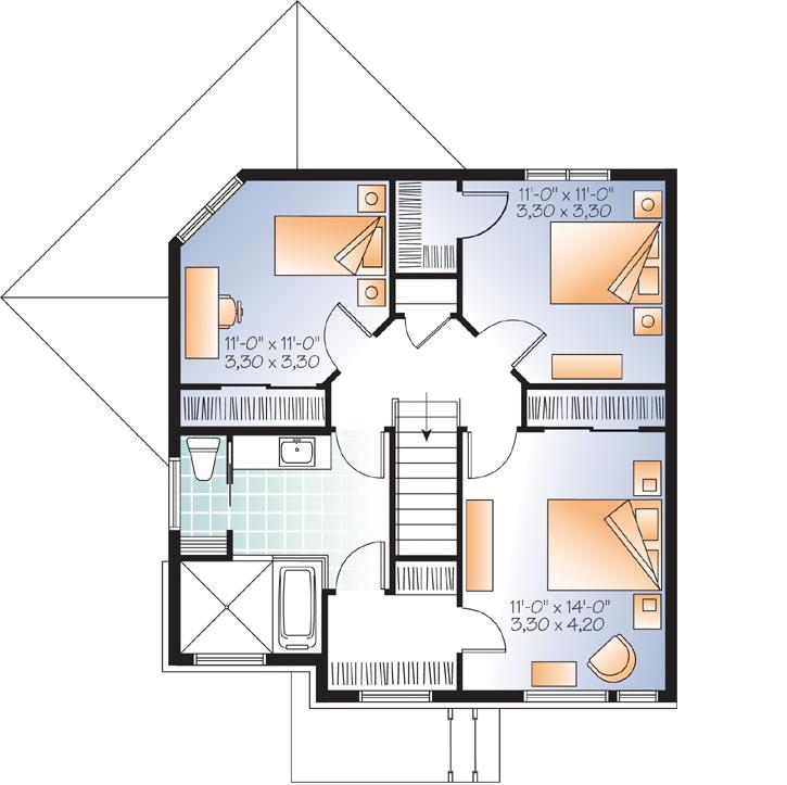Upper/Second Floor Plan: 5-1134