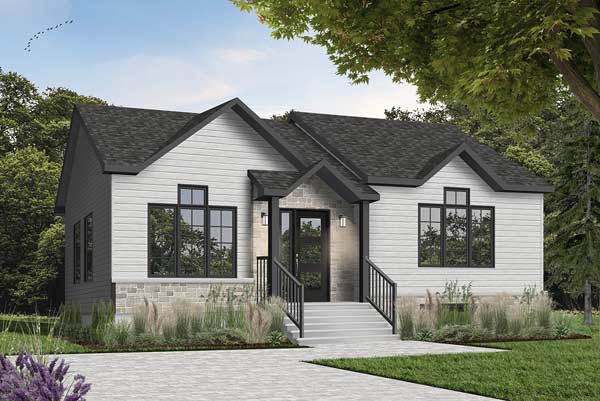 Contemporary Style Floor Plans Plan: 5-114