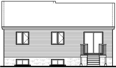 Rear Elevation Plan: 5-114