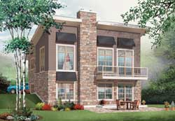 Modern Style House Plans Plan: 5-1145