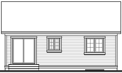 Rear Elevation Plan: 5-116