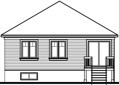 Rear Elevation Plan: 5-117