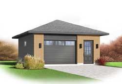 Modern Style House Plans Plan: 5-1172