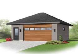 Modern Style Home Design Plan: 5-1173