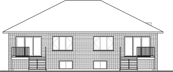 Rear Elevation Plan: 5-1178