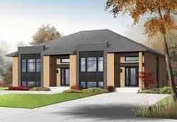 Modern Style Home Design Plan: 5-1178