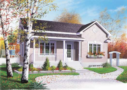 Country Style Home Design Plan: 5-118