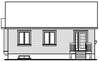 Rear Elevation Plan: 5-118