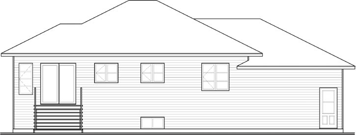 Rear Elevations Plan:5-1184