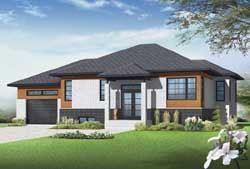 Modern Style House Plans Plan: 5-1184