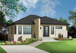 Modern Style Floor Plans Plan: 5-1187