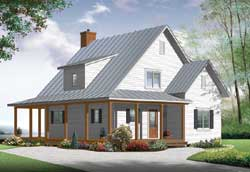 Country Style House Plans Plan: 5-1204