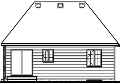 Rear Elevation Plan: 5-121