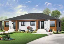 Modern Style House Plans Plan: 5-1212