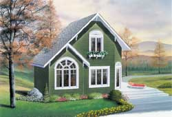 Cottage Style Floor Plans Plan: 5-1215