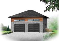 Modern Style Home Design Plan: 5-1217