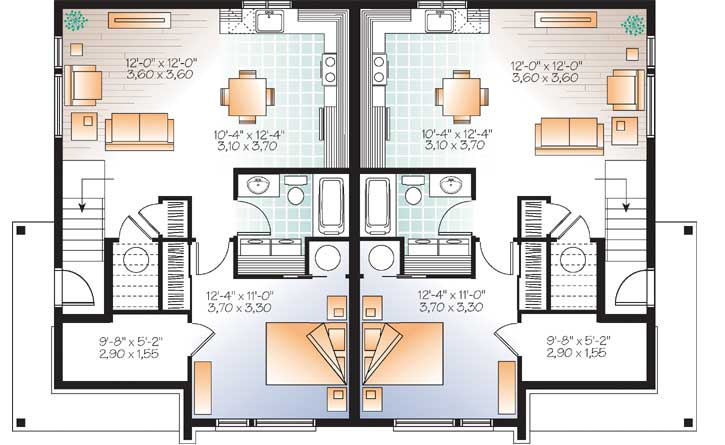 Lower Floor Plan: 5-1219