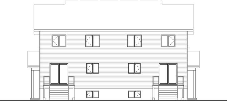 Rear Elevation Plan: 5-1219