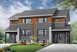 Modern Style Home Design Plan: 5-1219