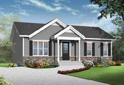 Traditional Style Home Design Plan: 5-1223