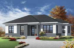 Modern Style House Plans Plan: 5-1224