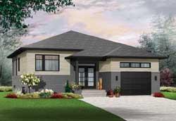Modern Style House Plans Plan: 5-1228