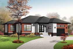Modern Style Home Design Plan: 5-1229