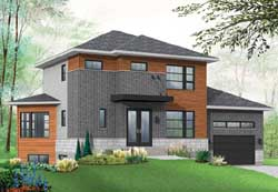 Modern Style Floor Plans Plan: 5-1232