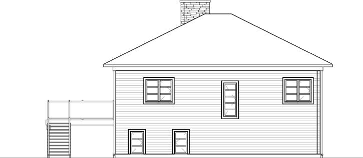 Rear Elevation Plan: 5-1236