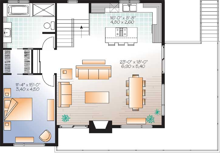 Upper/Second Floor Plan: 5-1236