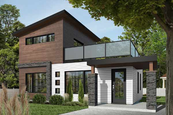 Modern Style Floor Plans Plan: 5-1240