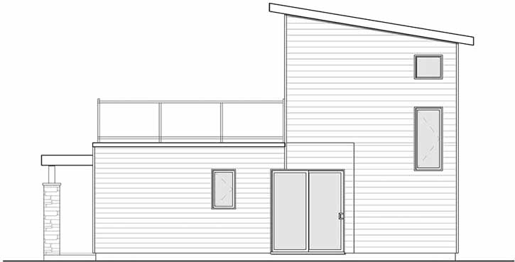Rear Elevation Plan: 5-1240