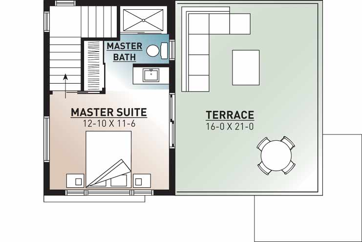 Upper/Second Floor Plan: 5-1240